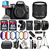 Holiday Saving Bundle for D3300 DSLR Camera + 18-140mm VR Lens + 64GB Class 10 Memory Card + 6PC Graduated Color Filer Set + 2yr Extended Warranty + 32GB Class 10 Memory - International Version