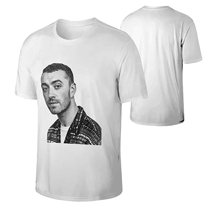 a2e2fbfd Amazon.com: Man's Sam Smith Traveling Cotton Moisture Wicking Adult T-Shirt  Gift: Clothing
