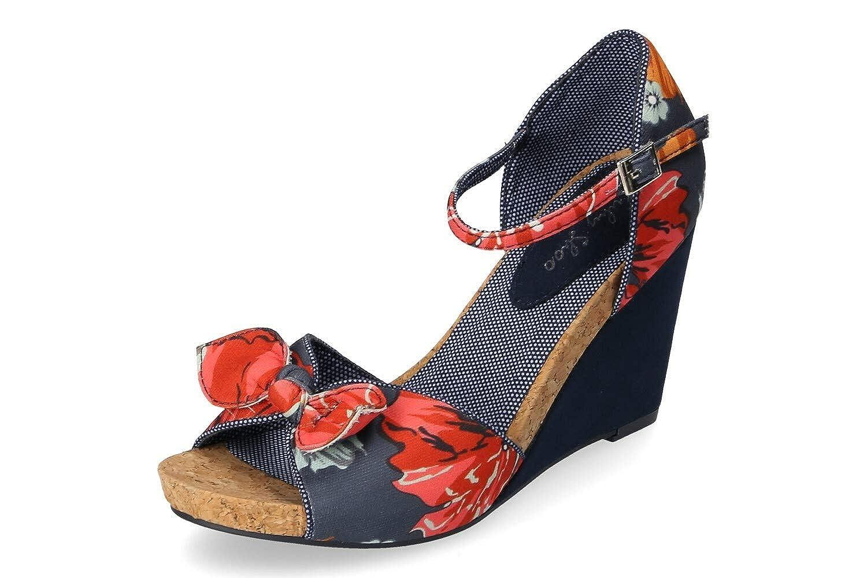 Ruby Shoo Damen Molly Keil Sandalette Blau Gr. 37