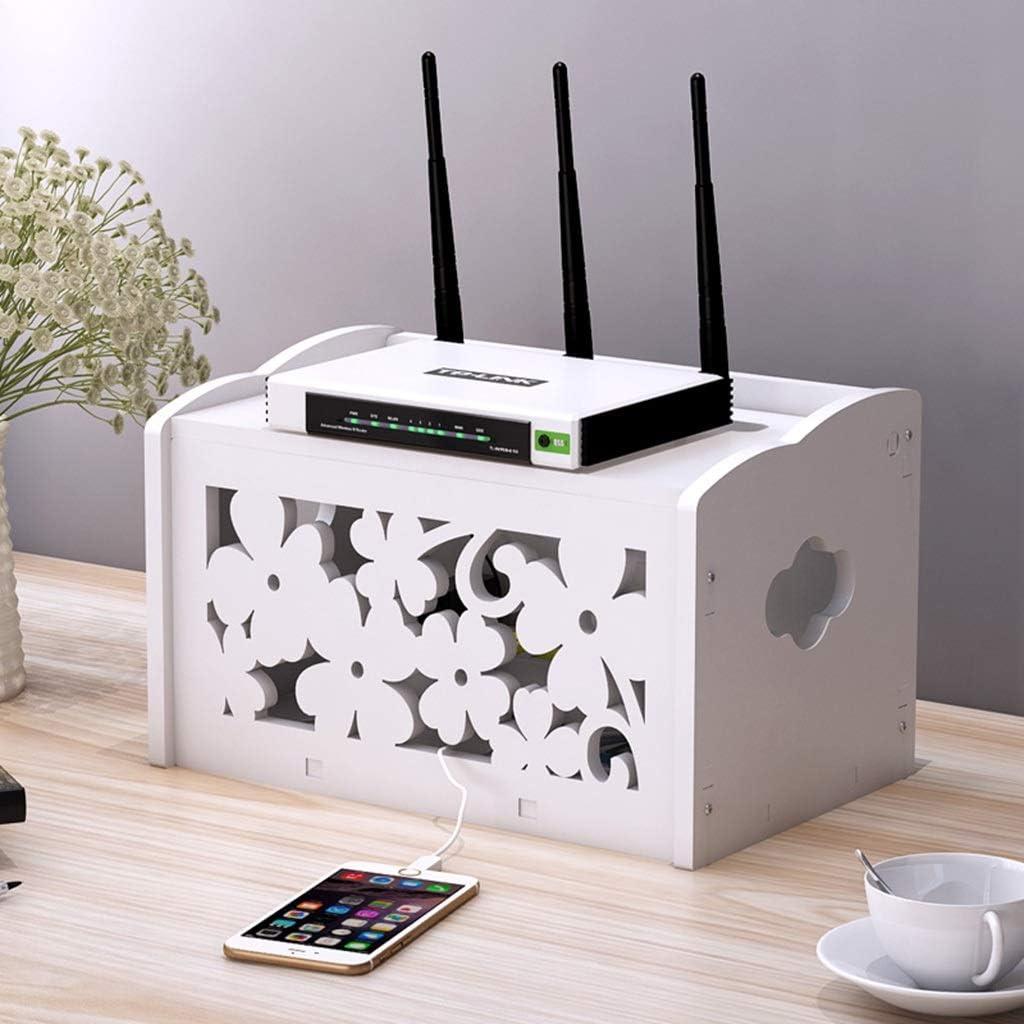 Wifi Router Rack Caja de almacenamiento TV Set-top Box Estante de ...