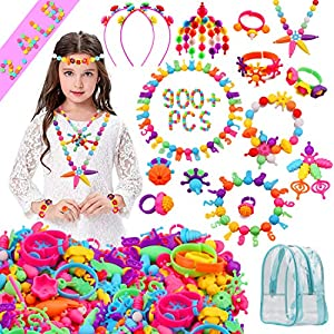 Best Epic Trends 61btH1zcAlL._SS300_ HUMUTU Snap Pop Beads, 900+PCS Pop Beads for Girls Jewelry Making Kits, Pop Beads Jewelry Toys for Age 3 4 5 6 Year Old…