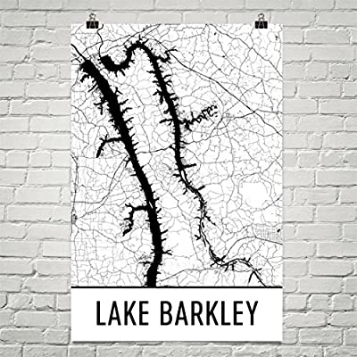 Lake Barkley Kentucky, Lake Barkley KY, Lake Barkley Map, Kentucky Decor, Lake Map, Barkley Lake Art, Art, Cottage Decor, Barkley Poster