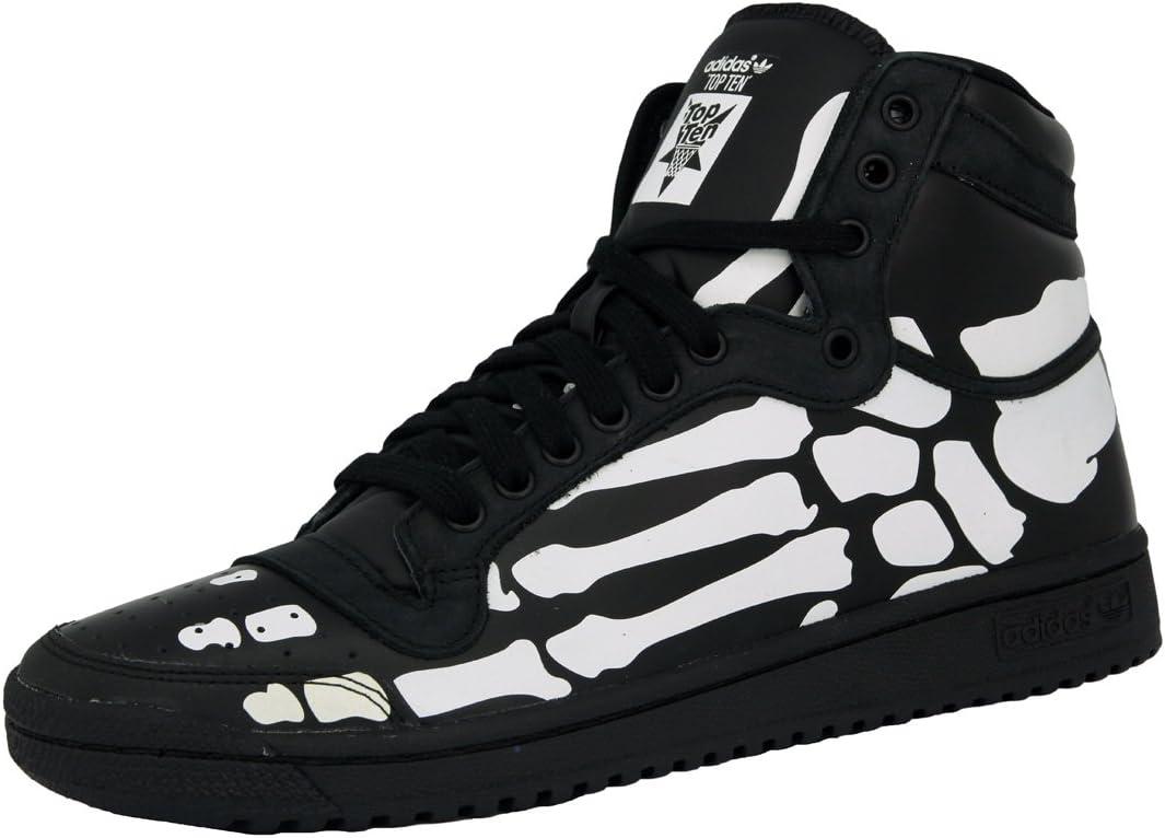 Adidas Top Ten HI Zapatillas Sneakers Negro Blanco Esqueleto para ...