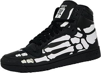 Adidas Top Ten HI Zapatillas Sneakers Negro Blanco Esqueleto para Hombre: Amazon.es: Deportes y aire libre