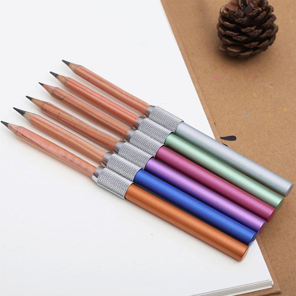 iTemer 2 pieza l/ápiz creativo barra de metal extensible l/ápiz extensi/ón poste papeler/ía pluma pluma firma accesorios accesorios adecuados para estudiantes de arte