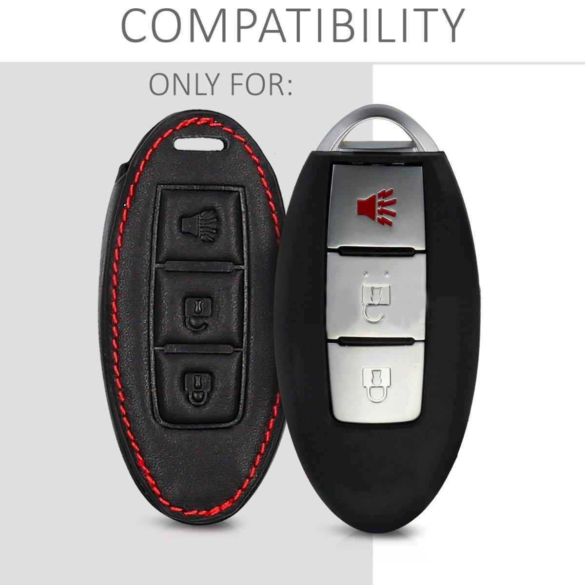 kwmobile Cover in Similpelle per Chiave Nissan Custodia Protezione per Chiave Nissan con 3 Tasti Guscio coprichiave Protettivo in Pelle PU per Chiavi Macchina