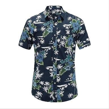 Hombres Hawai Manga Corta Camisa Piña Impresión Camisas, 9 Estilos: Amazon.es: Ropa y accesorios