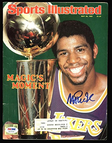 Lakers Magic Johnson Signed 1980 Sports Illustrated Magazine #7A15330 - PSA/DNA Certified - Autographed NBA Magazines