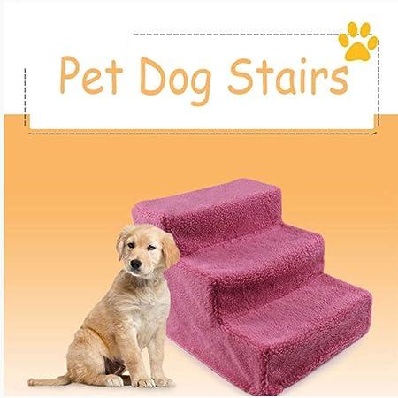 Yshen Escaleras para Perros Mascotas Perro Escaleras Pasos Gato Pequeño Perro Escaleras Escalera Desmontable Cachorro Gatito Cama Escaleras 3 Pasos Suministros para Mascotas: Amazon.es: Productos para mascotas
