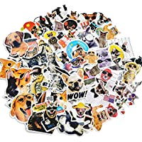 Waterproof Aesthetic Cute Funny Animal Decal Cat & Dog Vinyl Stickers for Laptop,Water Bottles,Cars,Suitcases,68pcs