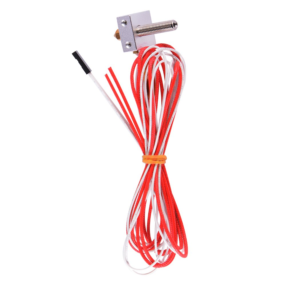 MK8 Extruder 1.75mm 0.4mm Nozzle Throat Filament Heater Block Thermistor HotEnd Kit for 3D Printer SD001