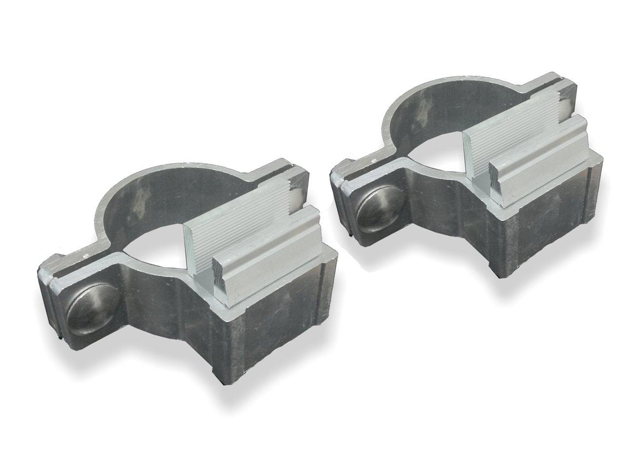 1 Paar 2 St/ück Alform Schellen Rohrschellen /ø60mm aus Aluminium mit Klemmklotz