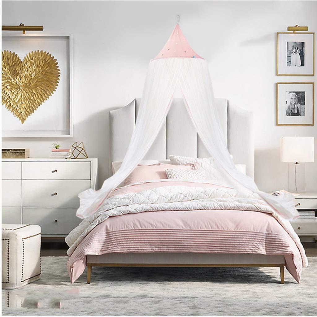 蚊帳子供用ベッド北欧ラウンド天井プリンセススタイルヨーロッパ裁判所テントベビーベッドシェーディングガーゼ (色 : ピンク, サイズ さいず : 2.0 m (6.6 ft) bed) B07R4ZT1FT ピンク 1.5 m (5 ft) bed 1.5 m (5 ft) bed|ピンク