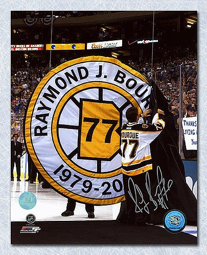 Ray Bourque Boston Bruins Autographed Jersey Retirement Night 16x20 Photo - Signed Hockey Pictures ()