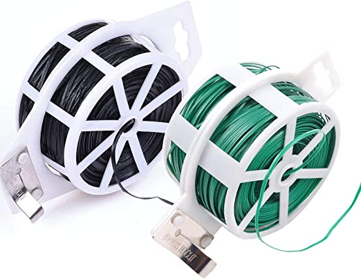 Vidillo Garden Twist Tie 656Ft/200M - Alambre para plantas de jardín con cortador, resistente rollo de corbata/corbata/cierre de cremallera/alambre de entrenamiento recubierto para jardinería: Amazon.es: Hogar