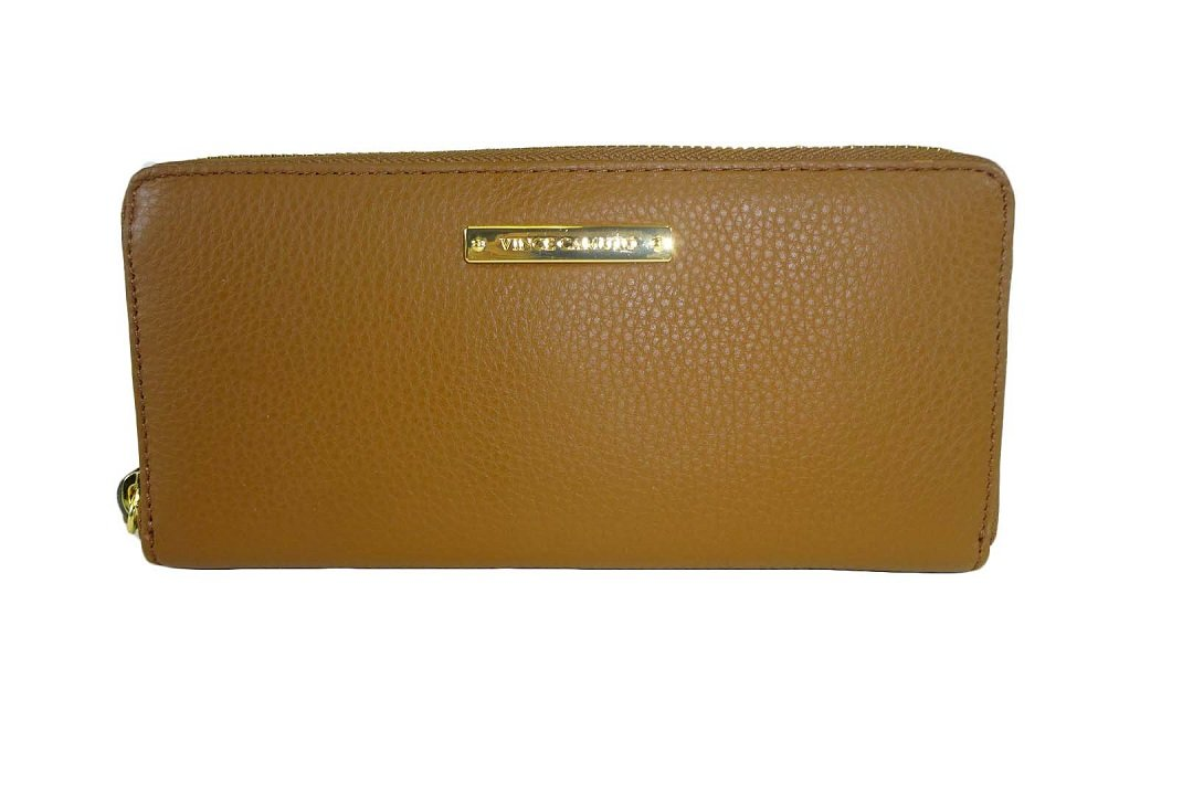 Vince Camuto Marly Zip Around Wallet Brandy Leather Wallet