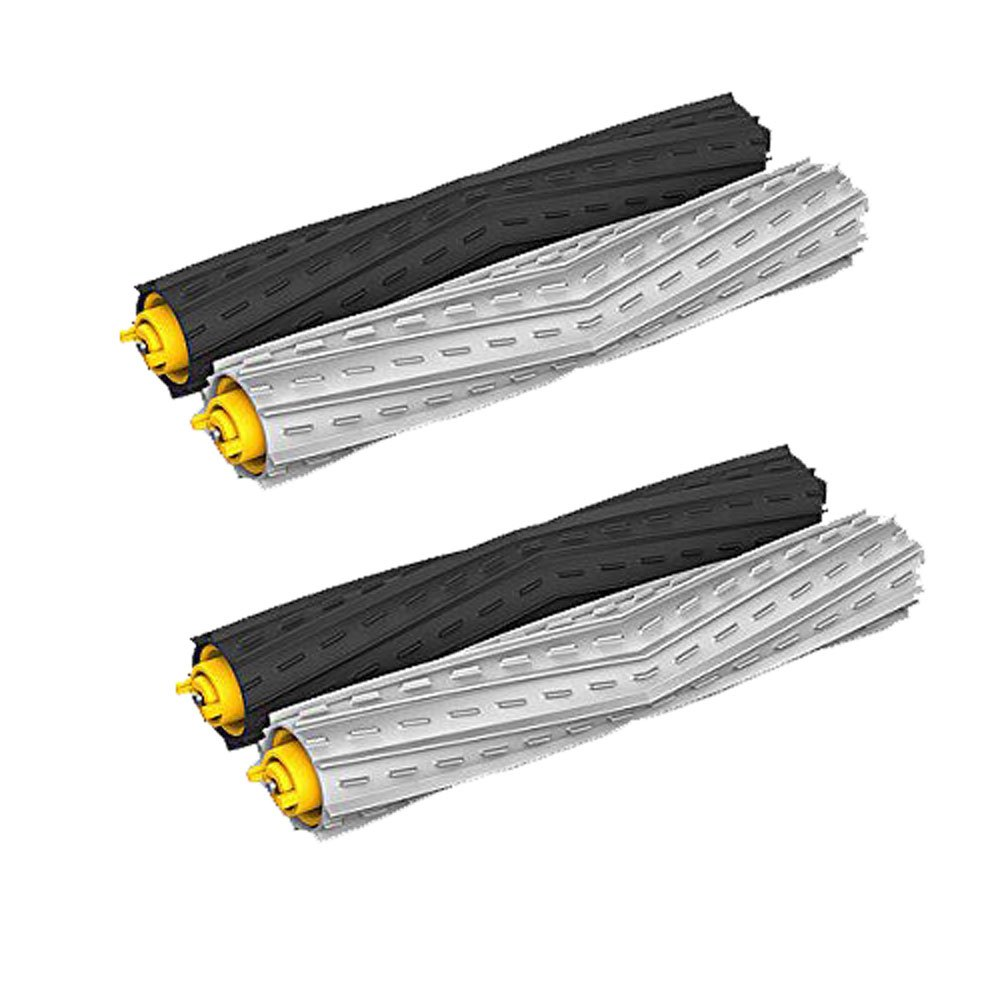 Amyehouse 2 Sets Tangle-Free Debris Extractor Set Replacement Parts for iRobot Roomba 800 900 Series 805 860 870 871 880 890 960 980