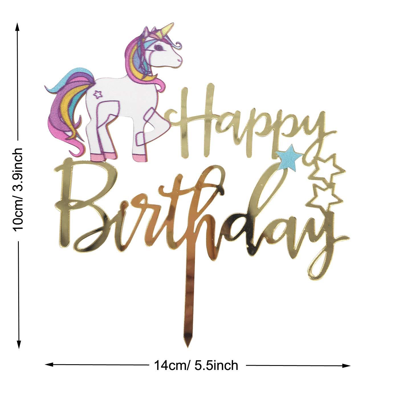 "7.5/"" Unicorn Shooting Star Edible Personalised Cake Topper"