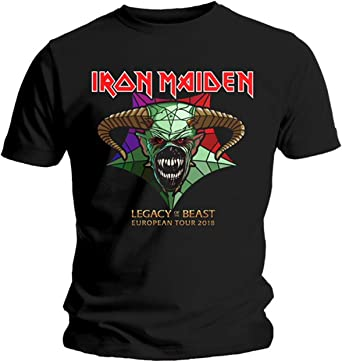 Iron Maiden Legacy of The Beast Tour 2018 Live Oficial Camiseta para Hombre: Amazon.es: Ropa y accesorios