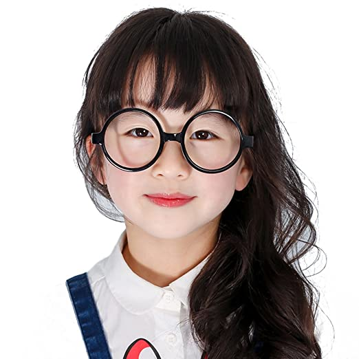 5fc6e79a10 Kids Round Glasses Frame - Children Eyeglasses Geek Nerd Retro Reading  Eyewear No Lenses for Girls Boys - Juleya  Amazon.co.uk  Clothing