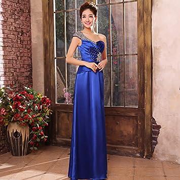 JKJHAH Vestidos De Noche para Banquetes Fiesta De Baile Vestido Rojo, Royal Blue, XXL