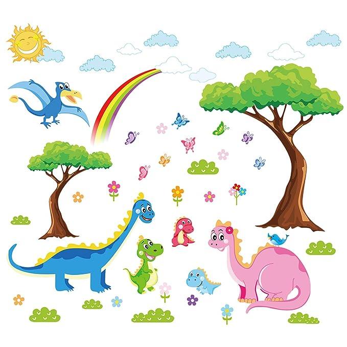 ufengke Pegatinas de Pared Familia de Dinosaurios Vinilos Adhesivos Pared Árbol Decorativos para Habitación Infantiles Bebé: Amazon.es: Hogar