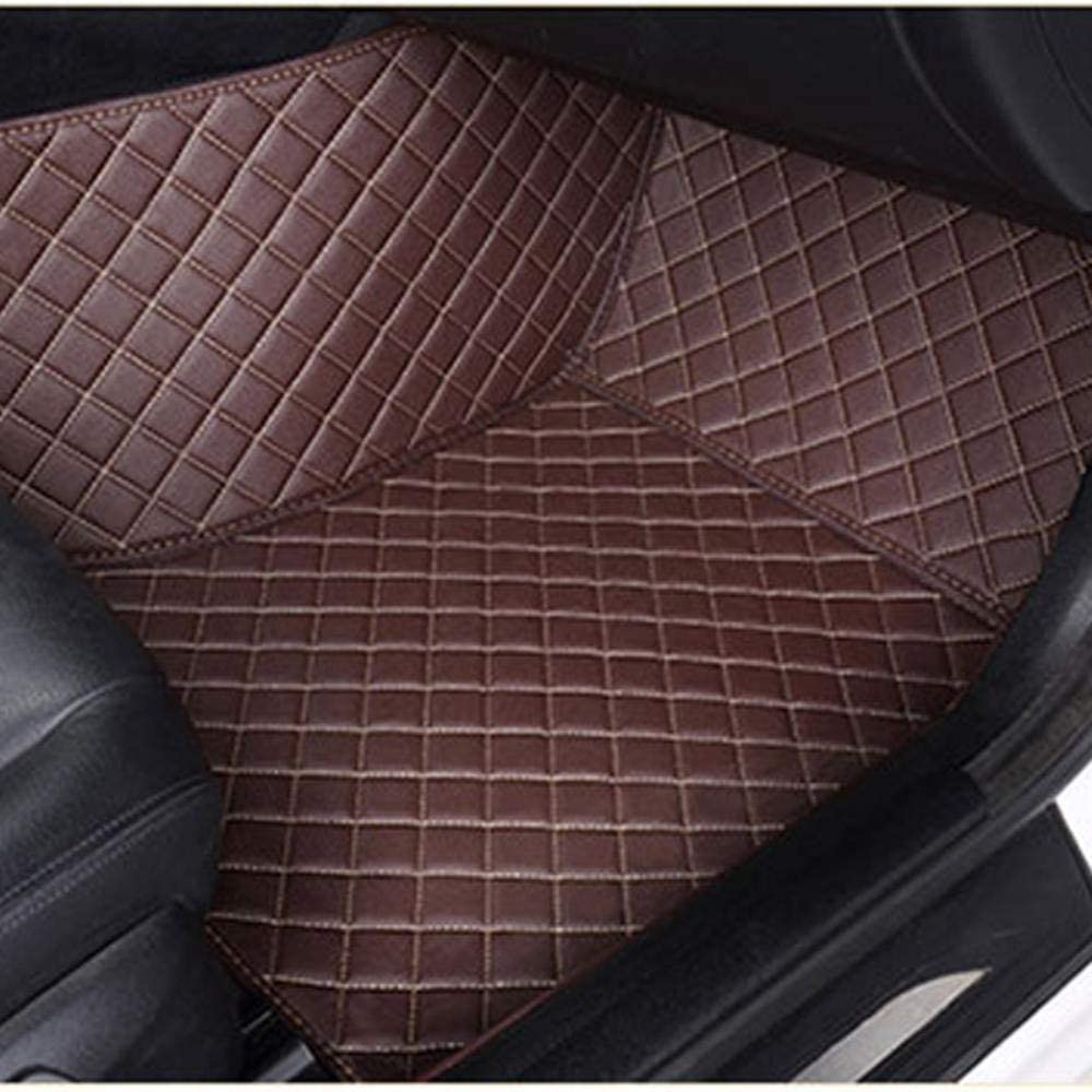 MZLJL Tapis DAuto Voitures Personnalis/ées Tapis De Sol pour Audi A1 A3 A4 A5 A6 A7 A8L Q2 Q3 Q5 Q7 R8 S3 S4 S5 S6 S7 Rs3 Rs6 Tts 2014-2018 Cuir Tapis Rouge