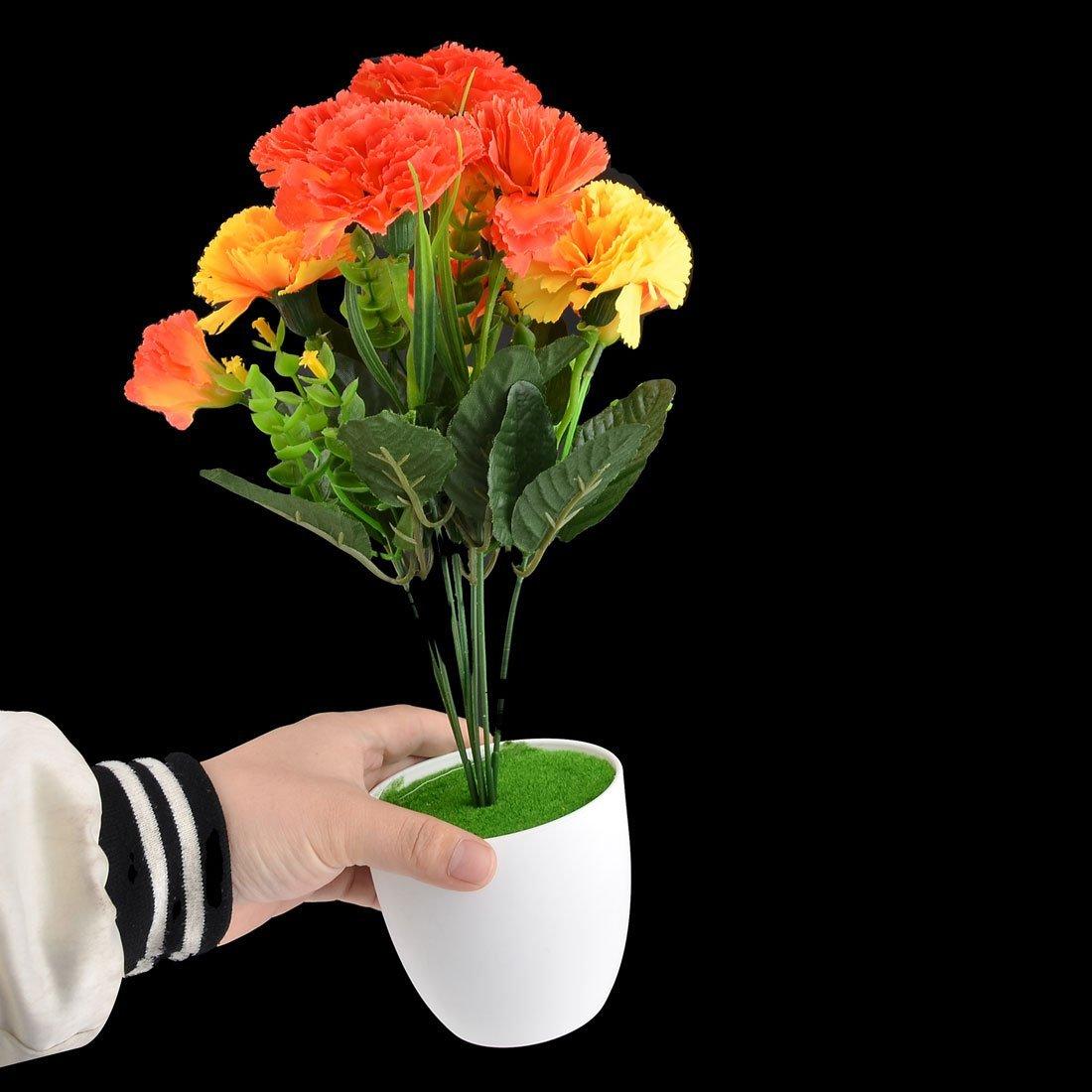 Amazon.com: eDealMax Dormitorio plástico DIY de la decoración de la simulación Artificial de Clavel Flor de Naranja: Home & Kitchen