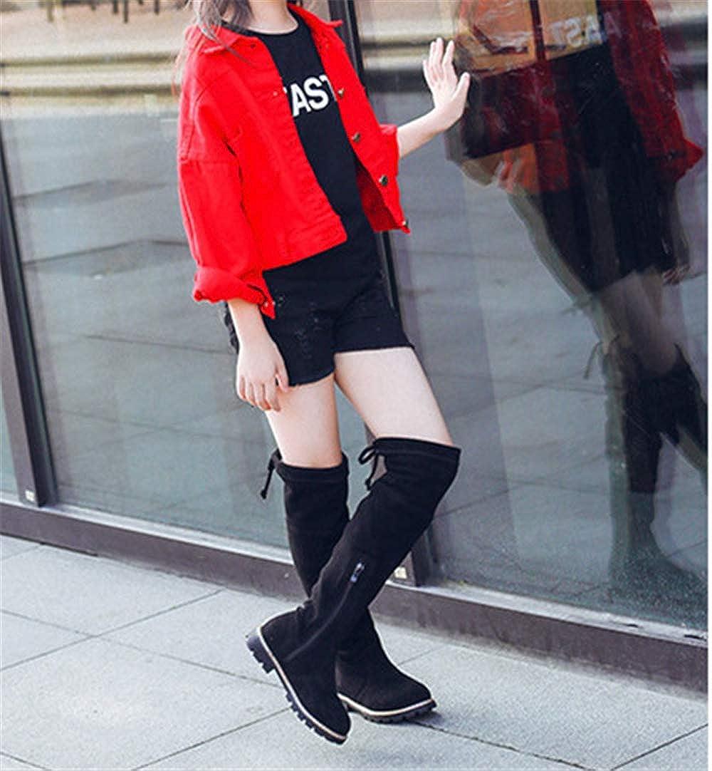 ALLAK Girls Waterproof Lace Bowknot Side Fur Winter Boots Toddler
