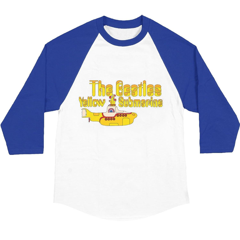 BeatlesメンズイエローSub Baseball Jerseyブルー/ホワイト B016J6I1E0XL