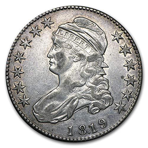 1819 Capped Bust Half Dollar AU Half Dollar About Uncirculated