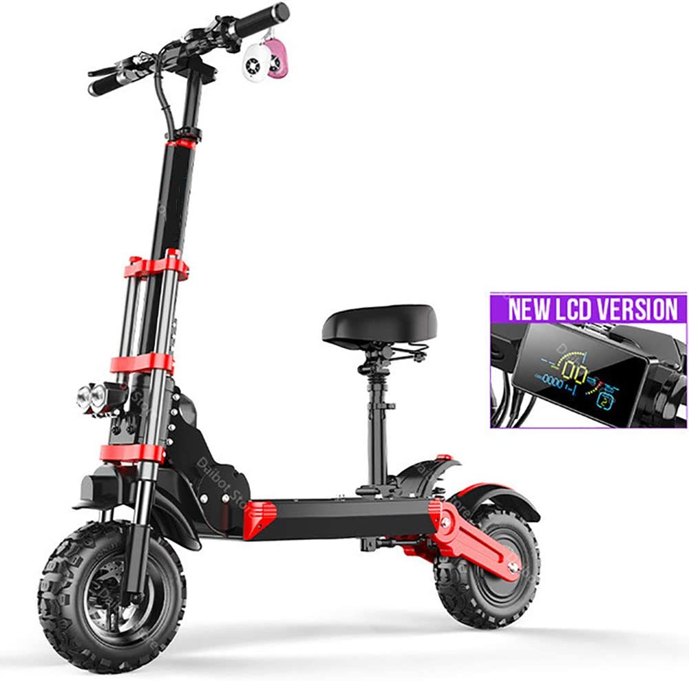 WXX Portable Folding Electric Scooter,350W Motor 12 Inch Explosion-Proof Vacuum Tire Off Road 2 Wheeled Scooters 48V Lithium Battery Battery Car,Square Display,100KM