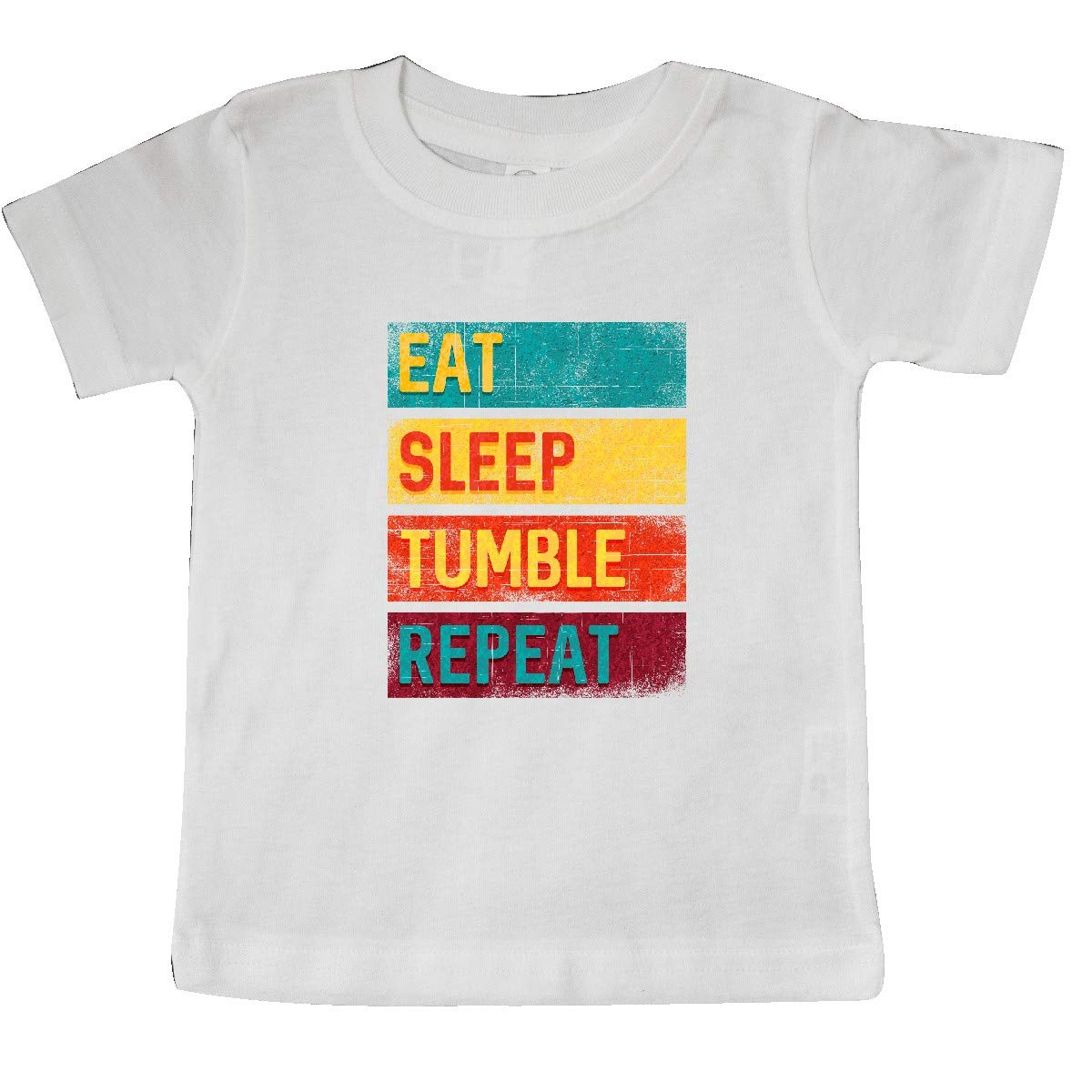 inktastic Tumbling Gift Eat Sleep Tumble Repeat Baby T-Shirt