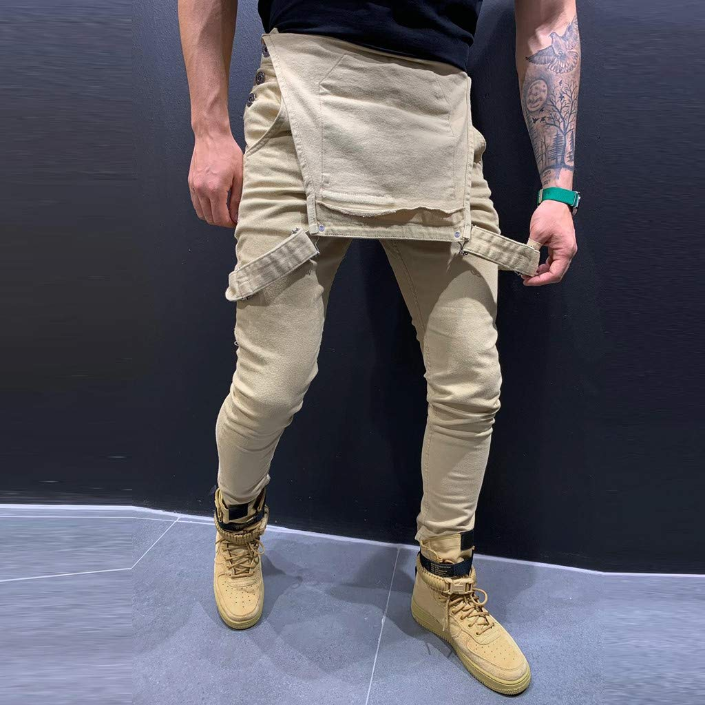 Mens Camouflage Overalls Jumpsuit Casual Jeans Denim Dungarees Trousers Suspender Pants