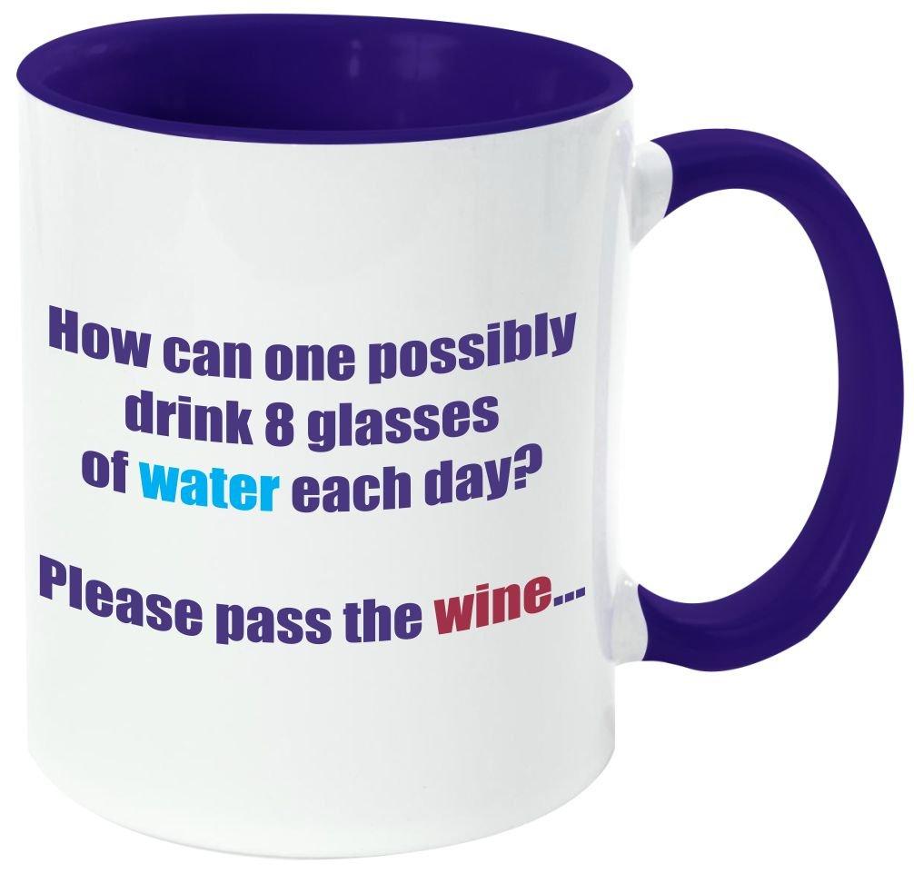 "Rikki Knight Funny Saying ""ワインは定数Proof "" – 面白い引用デザイン11オンスセラミックコーヒーマグカップ DarkBlue DIS-mugs-DBLUE-4124 B06XWWJQ8B DarkBlue WaterandWine WaterandWine DarkBlue"