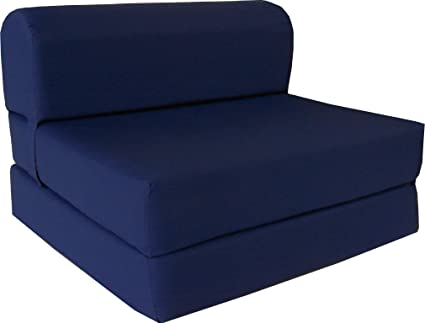 Du0026D Futon Furniture Navy Sleeper Chair Folding Foam Bed Sized 6u0026quot; Thick X 32u0026quot;  sc 1 st  Amazon.com & Amazon.com: Du0026D Futon Furniture Navy Sleeper Chair Folding Foam Bed ...