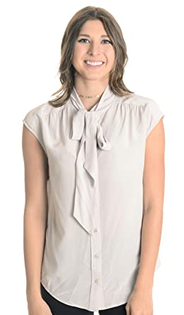 337320c14d43db Image Unavailable. Image not available for. Color  CLOSED Women s Tie Neck  Blouse ...
