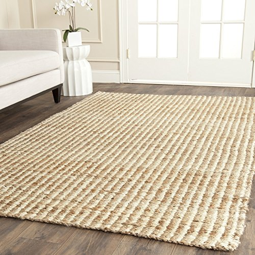 Ivory Jute Rug (Safavieh Natural Fiber Collection NF734A Hand Woven Natural and Ivory Jute Area Rug (9' x 12'))