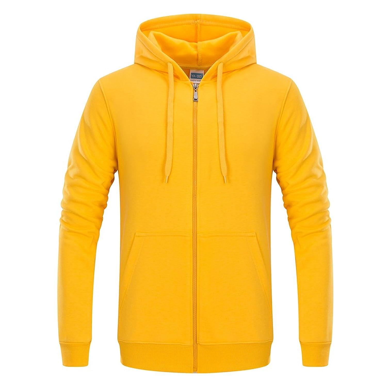 ACHIEWELL Men's Fleece Hoodies Full Zipper Sweatshirt