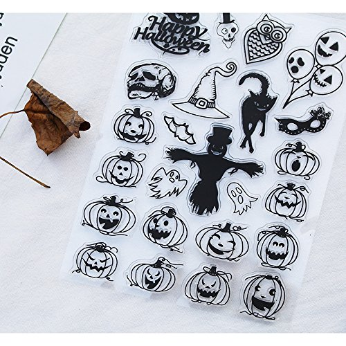 Clear Stamps for DIY Scrapbooking Paper Cards Making Decoration (halloween pumpkin) ()