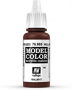 Vallejo Hull Red Model Color Paint, 17ml