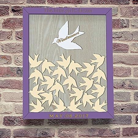 Rústico pájaros libro de invitados para bebé ducha libro de ...