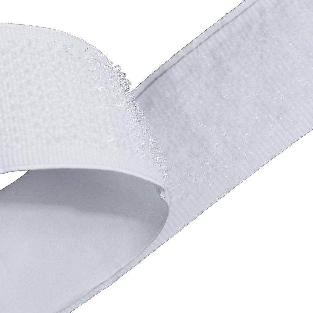 20 mm de Ancho Blanco Eroilor 24 m Hook y Loop Auto Adhesivo Autoadhesivo Gancho y Bucle