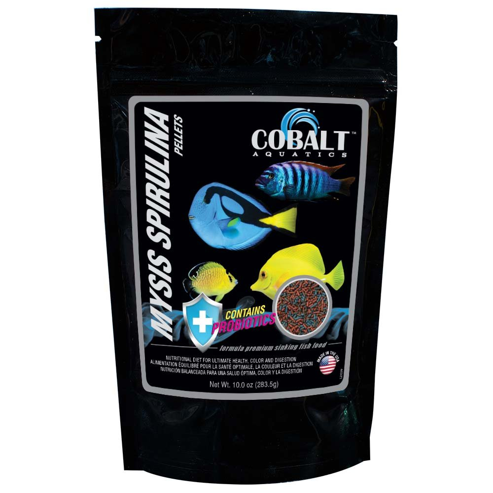 Cobalt Aquatics Mysis Shrimp Spirulina Pellets, 10-Ounce
