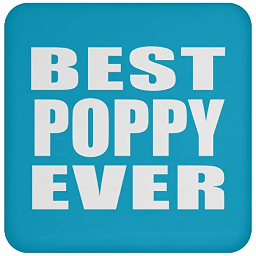 Best Poppy Ever - Drink Coaster Turquoise Posavasos para ...