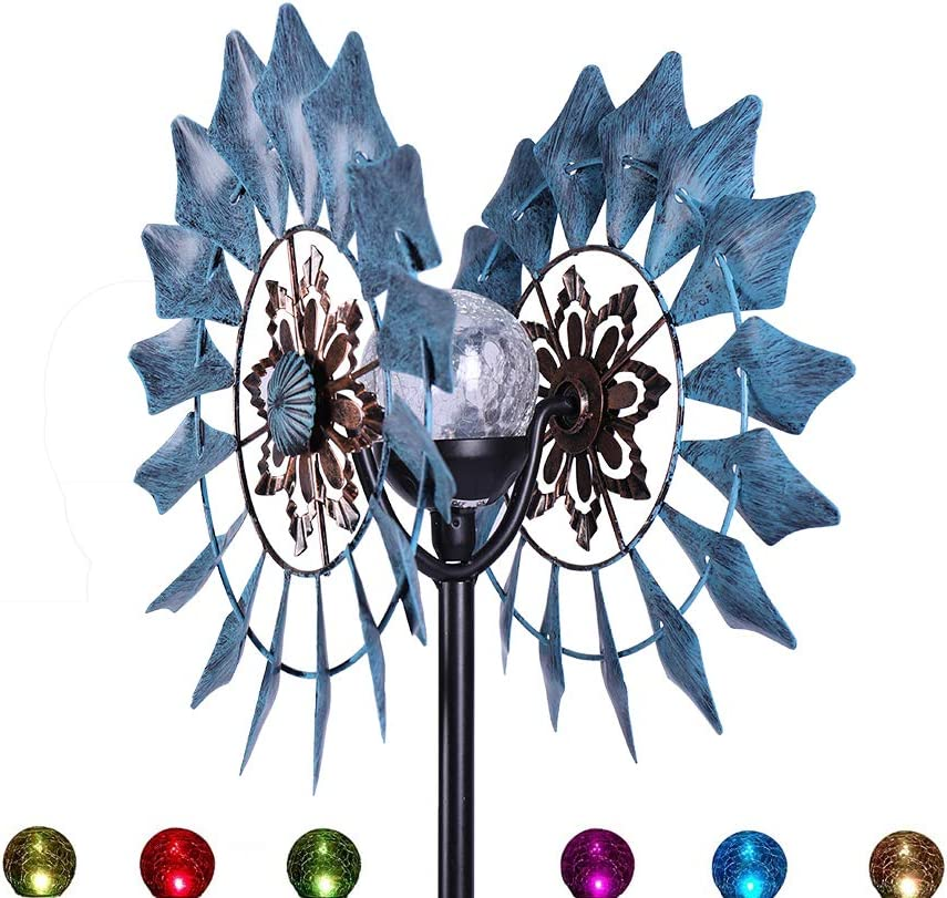 Wind Spinner Outdoor Metal - Decorative Lawn Ornament Wind Mills - Unique Outdoor Lawn and Garden Décor