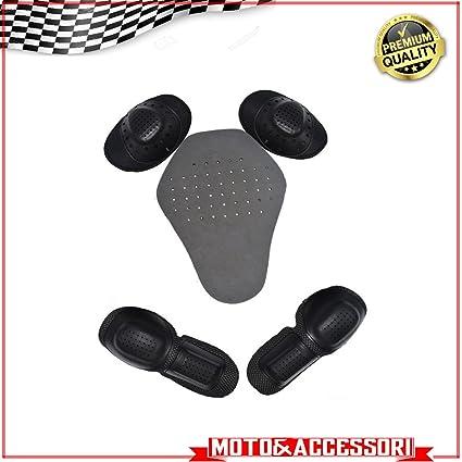 Kit de protecciones para chaqueta de moto/scooter - Incluye ...