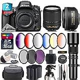 Holiday Saving Bundle for D610 DSLR Camera + 18-140mm VR Lens + 35mm 1.8G DX Lens + 500mm Telephoto Lens + 6PC Graduated Color Filer Set + 2yr Extended Warranty + Battery - International Version