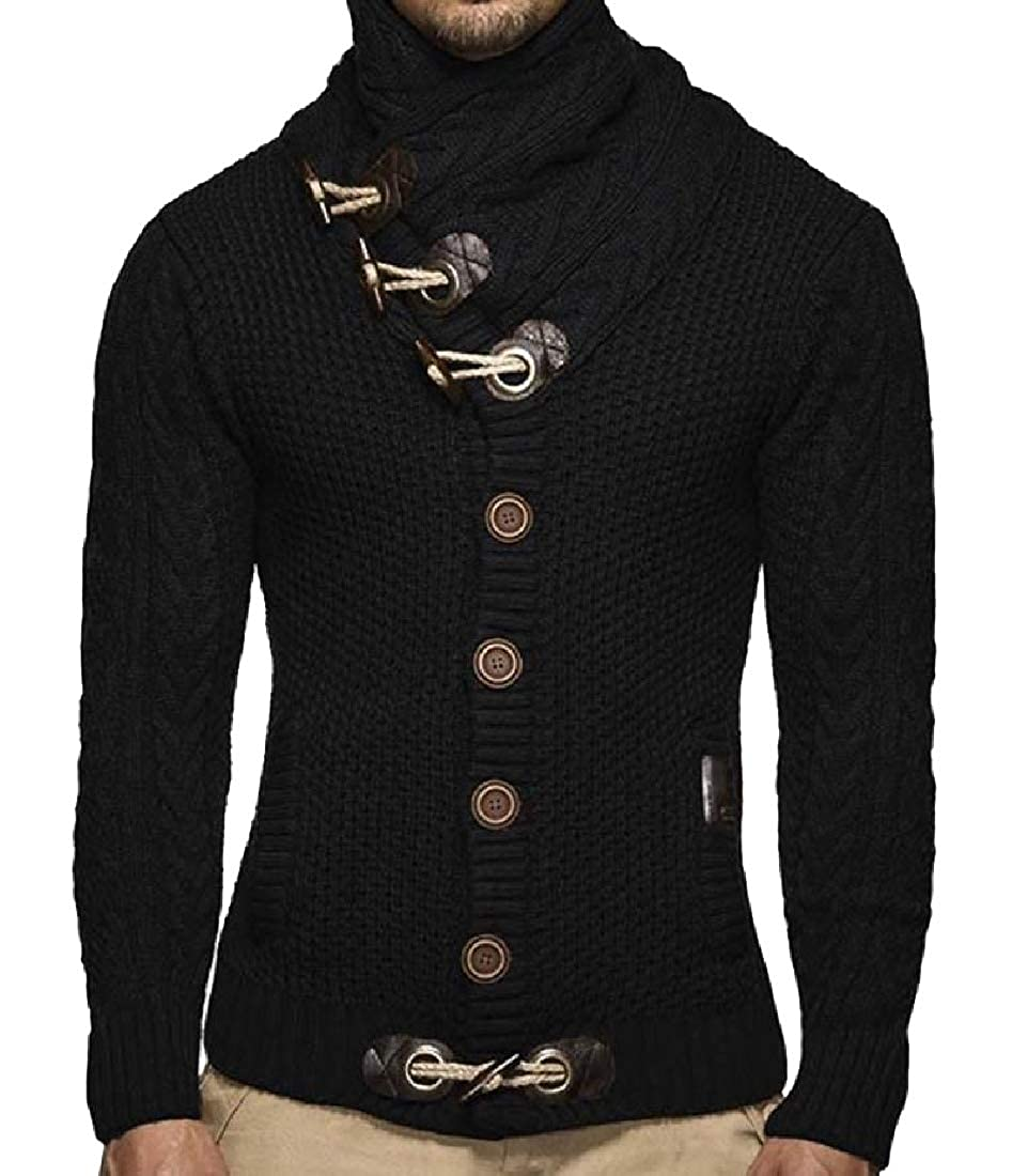 Unastar Mens Relaxed-Fit Batwing Sleeve Sweater Tops with Pockets