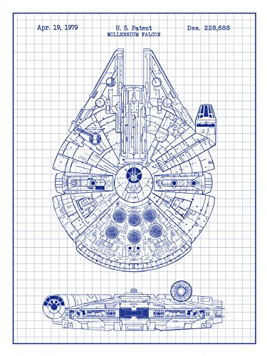 star-wars-millennium-falcon-design-patent-art-poster-18-x-24-inch-silk-screen-print-white